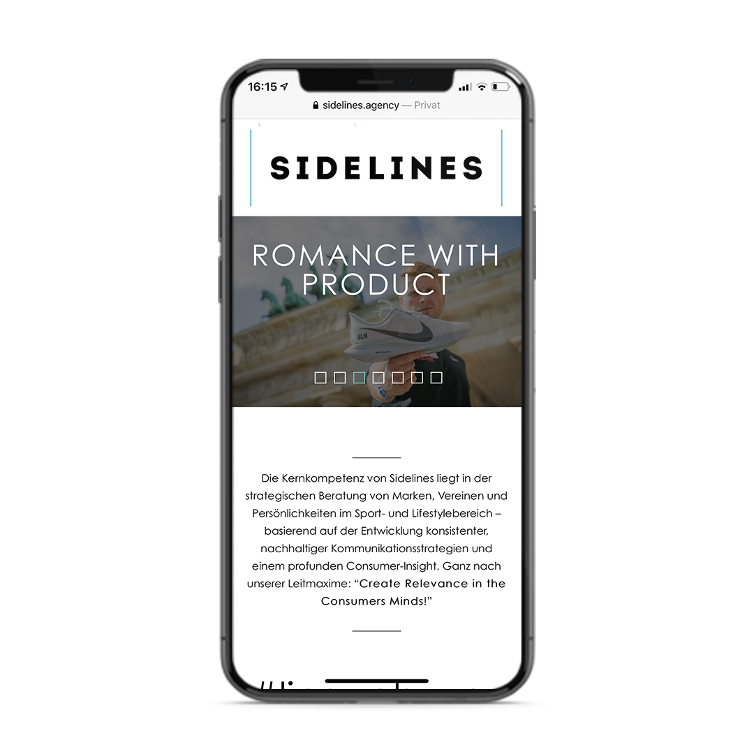 Sidelines Agency Website